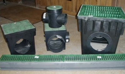 Plastic yard drain products norwalk tank company for Yard drain box